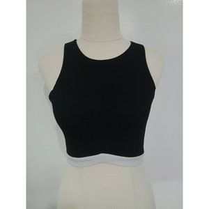 Now - Black and White Crop Top - Size 6